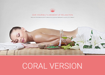 Wellness Center Landing Page Coral