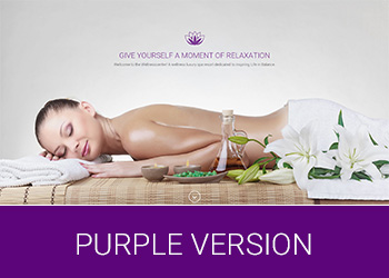 Wellness Center Landing Page Purple